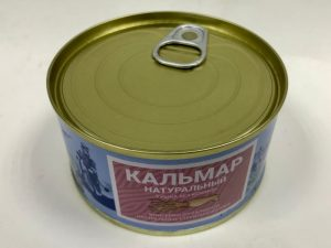 Кальмар тушка без кожи натуральный, ж/б, 185 г