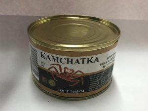 Мясо краба в собственном соку в/с, ж/б, 240 г