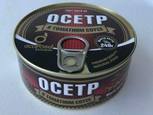Осетр в томатном соусе 240 г.