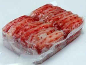 Краб очищенный варено-мороженый, первая фаланга Экстра в вакуумной упаковке, 1 кг.